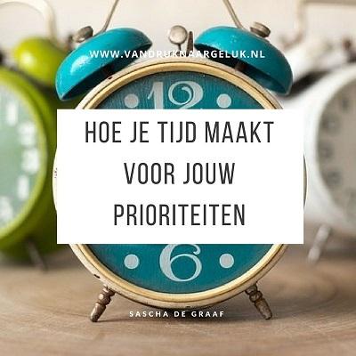 Hoe je tijd maakt voor jouw prioriteiten, van druk naar geluk