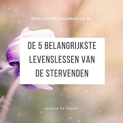 vijf belangrijkste levenslessen van de stervenden, the top five regrets of the dying
