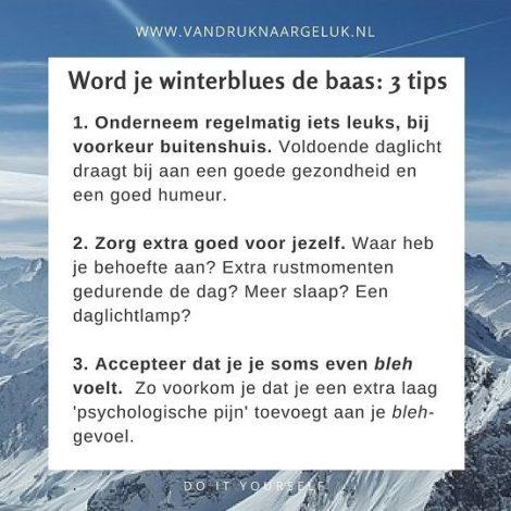 Drie tips om je winterblues de baas te worden