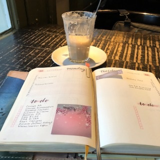 bullet journal en latte