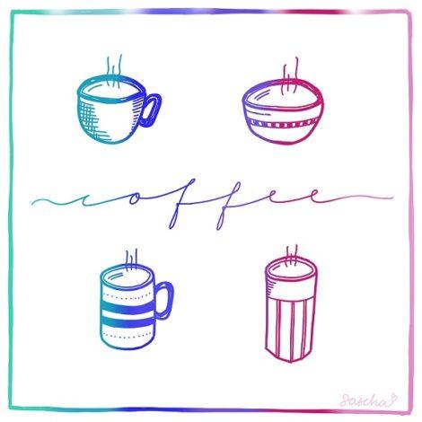 Coffee, gemaakt met iPad Pro en Procreate